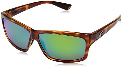 Costa del Mar Cut Polarized Iridium Square Sunglasses, Honey Tortoise, 60.6 - Costa Cut