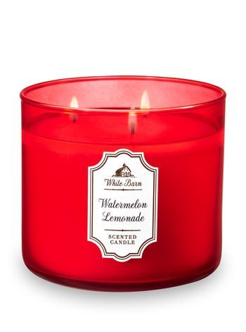 Bath and Body Works White Barn 3 Wick Scented Candle Watermelon Lemonade 14.5 Ounce