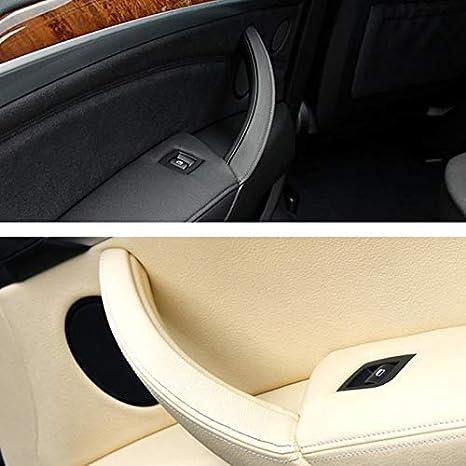 Semoic pour E70 E71 X5 X6 Poign/éE de Porte Int/éRieure pour Voiture Accoudoir Support Panneau Garniture Cache-Cable /à Droite Noir