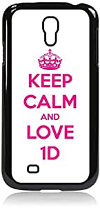 linJUN FENGKeep Calm and Love 1D - Hard Black Plastic Snap - On Case --Samsung? GALAXY S3 I9300 - Samsung Galaxy S III - Great Quality!