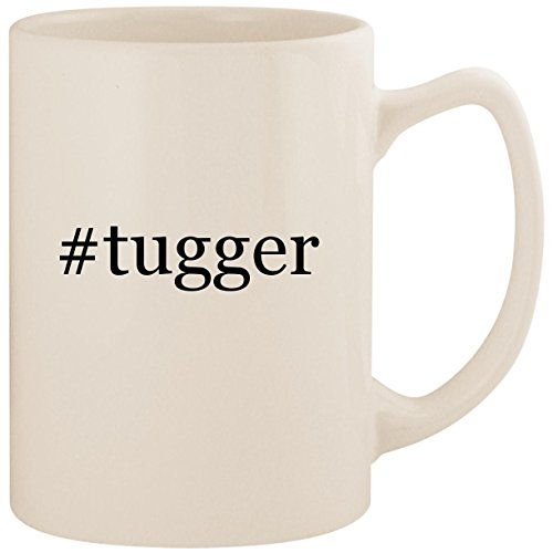 #tugger - White Hashtag 14oz Ceramic Statesman Coffee Mug Cup