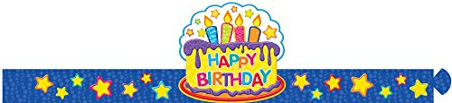 Eureka Classroom Supplies Happy Birthday Paper Party Hat, 32 pcs -