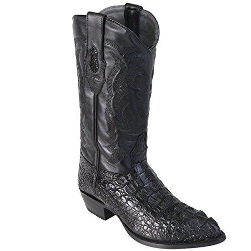 Original Black Caiman (Gator) Hornback LeatherJ-Toe Boot (Gator Skin Cowboy Boots)