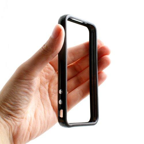 System-S Protector Bumper Tasche Schutz Hülle Frame Case Schutzhülle in Schwarz für Apple iPhone 4