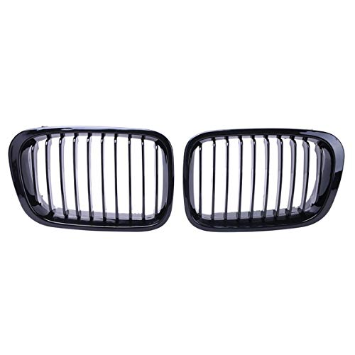 Horse Grille (Heart Horse Gloss Black Front Grille Grill for BMW 4 Door E46 320i 323i 325i 328i 330i E46 1998-2001)