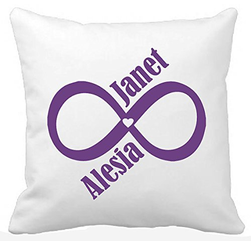 Same Sex / Gay & Lesbian infinity with heart and names pillow cover, customise your pillow cover, PERFECT gift for ALL newly weds, 16x16