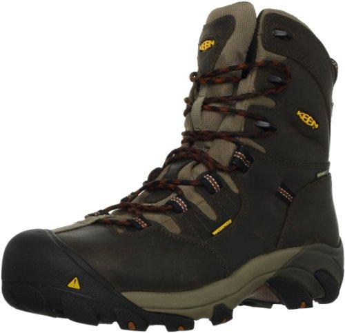 "KEEN Utility Men's Detroit 8"" Steel Toe Work Boot,Black Oliv"