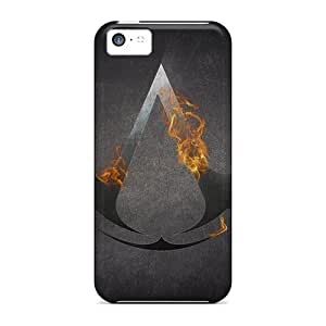 First-class Case Cover For Iphone 5c Dual Protection Cover Assassins Creed Logo