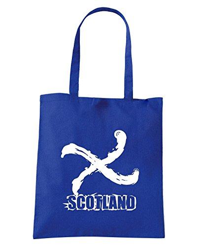 T-Shirtshock - Bolsa para la compra WC0552 Scotland Azul Real
