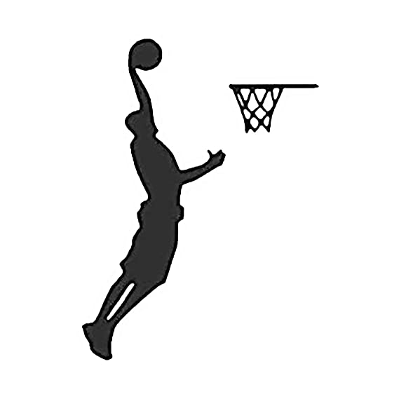 Jugar Modelo del baloncesto etiqueta de la pared Decal sala de ...
