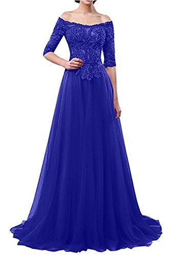 Brautmutterkleider A Festlichkleider mia Blau Ballkleider Braut Royal La Langes Festlichkleider Abendkleider Schulterfrei Linie 1TqR0