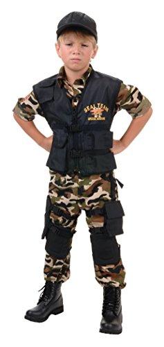 Underwraps Navy Seal Team Deluxe Kids Costume (Kids Navy Costumes)