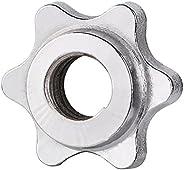NIANGAO Standard Barbell Spin-Lock Collars Screw Clamps,Barbell Bar Hexagon Nut,Anti-Slip Barbell Bar Collar S