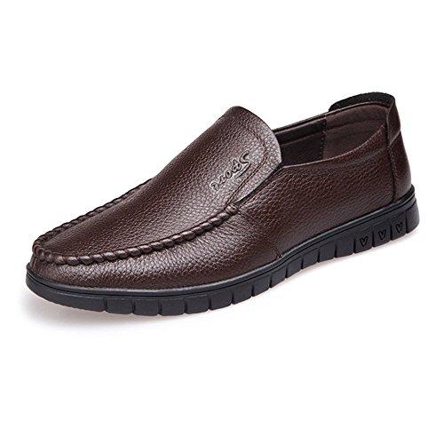 Dark Suave Mocasines on Mocasín Hombre Opcional Bn Bn perforación Plana Slip Eu Oscuro Perforación 40 Genuino Zapatos De Tamaño Cuero color Suela 2018 Clásico Para gFOdwqP
