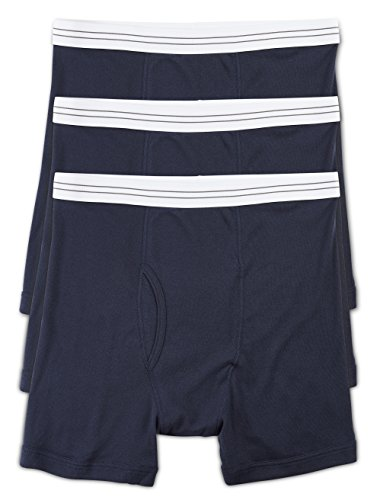 Harbor Bay Knit Boxers (Harbor Bay by DXL Big and Tall Knit Boxer Briefs 3-Pack (XL, Navy))