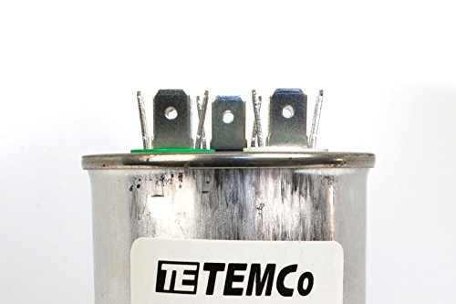 TEMCo Dual Run Capacitor RC0120-50/5 mfd 370 V 440 V VAC ... on