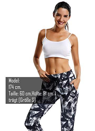 Yogahose Sweat Fitness Hose Tanzen Trainingshose Sporthose Damen Pants Jogginghose Instinnct Schwarz IqAtc