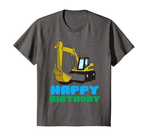 Kids Happy Birthday Boy Excavator Toddler Excavator Dig Tee Gift