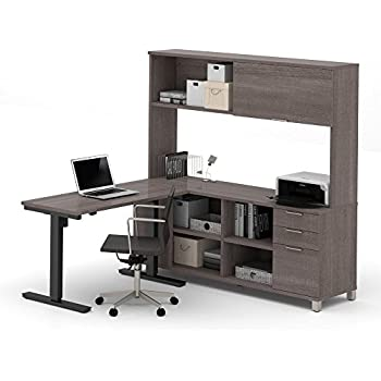 officeworks adjustable table electric office furniture pro desk including height block feet drawers in bark standing depot