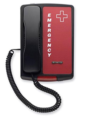 (Auto-Dial Emergency Desk/Wall Phone (Black))