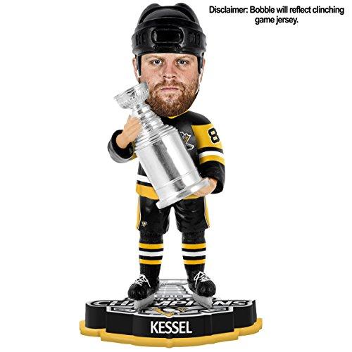 "NHL Pittsburgh Penguins Kessel P. #81 2016 Stanley Cup Champions Bobble Sports Fan Home Decor, Black, 8"""
