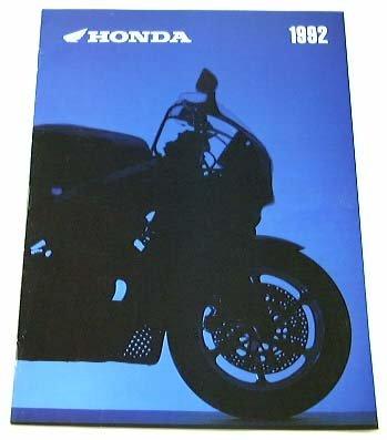 Motorcycle Sales Brochure (1992 92 HONDA MOTORCYCLE BROCHURE CB9900RR ST1100 CT70)