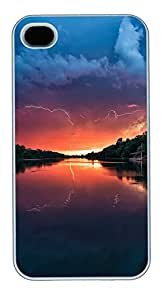 iPhone 4 4s Cases & Covers - Sunset Landscapes Custom PC Soft Case Cover Protector for iPhone 4 4s - White