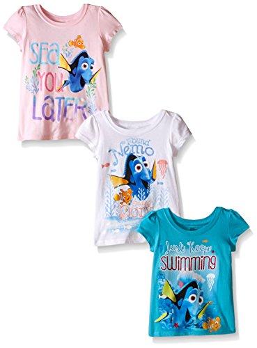 Disney Little Girls Finding Dory Puff-Sleeved 3-pack T-Shirt