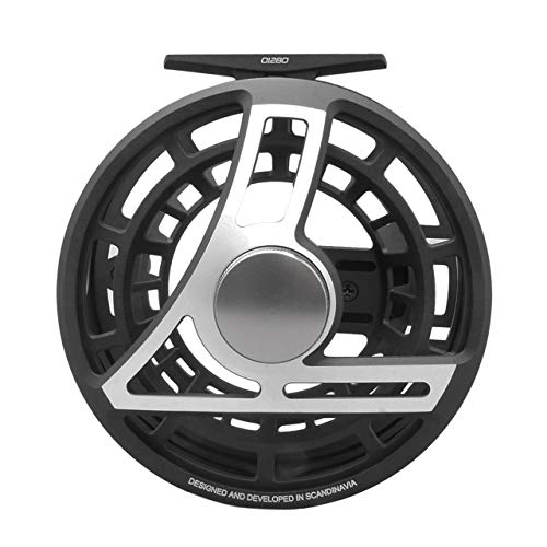 Loop USA Q 8/11 Fly Reel, Color: Black/Silver, Line: 8-11, Capacity: WF10+150/30LB, Right Hand (QR811-R)