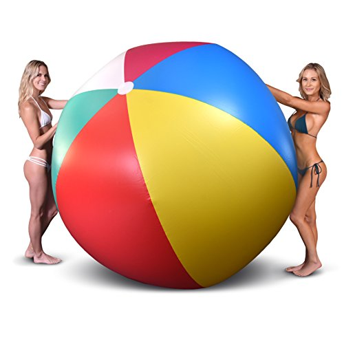 GoFloats 6' Giant Inflatable Beach Ball, Extra Large Jumbo Beach Ball | Patch Kit Included ()