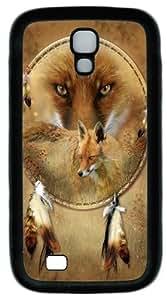 Dreamcatcher Fox TPU Silicone Case Cover for Samsung Galaxy S4/I9500 ?¡ìC Black