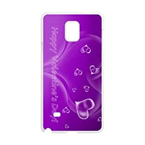 Purple Happy Samsung Galaxy Note 4 Cell Phone Case White as a gift V2092116