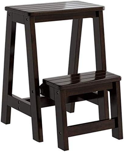 Yxsd Paso 3 capas de madera silla de tijera Escalera portátil multipropósito dormitorio Paso Escalera plataforma de almacenamiento estante de múltiples funciones de baño Sillas Taburete escalera con a: Amazon.es: Hogar