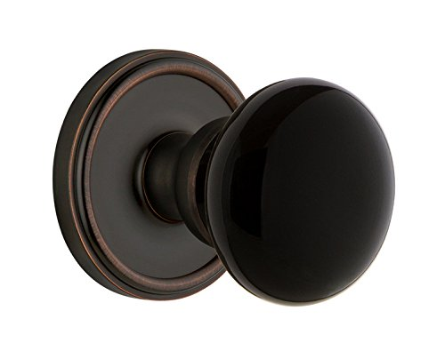 Grandeur Hardware 852982 Georgetown Rosette with Coventry Knob Privacy Backset Size 2.75 Timeless Bronze