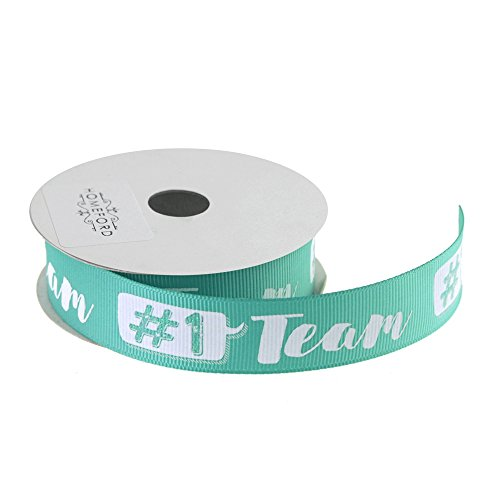 Homeford Number 1 Team Sports Grosgrain Ribbon, 7/8-Inch, 3-Yard ()