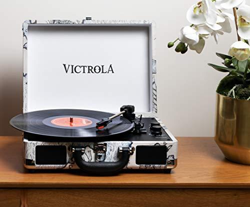 Victrola Suitcase Tocadiscos en maleta Vintage Bluetooth - Retro Map