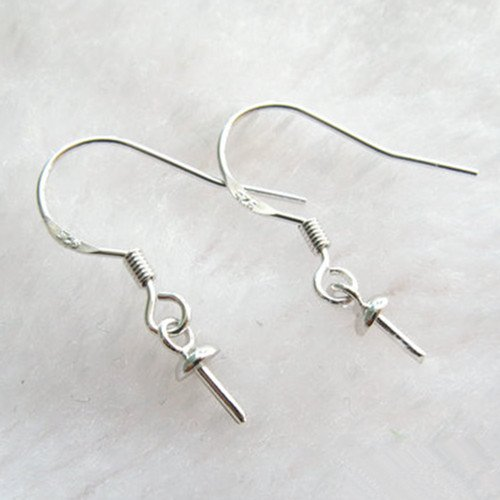 UPC 799695587629, 50pcs Beading Jewelry Making Findings 925 Sterling Silver Hook Earrings