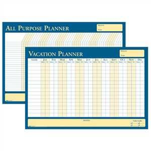 Bulk 2019 Vacation Scheduler, Recycled Flexible Planning Boards: HOD639 (9 Vacation Planners)