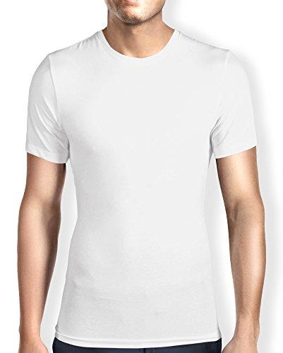 Men's Ultra Soft Bamboo Crew Neck T-Shirt / Undershirt - Tailored Tall, Tagless (M,W,C)
