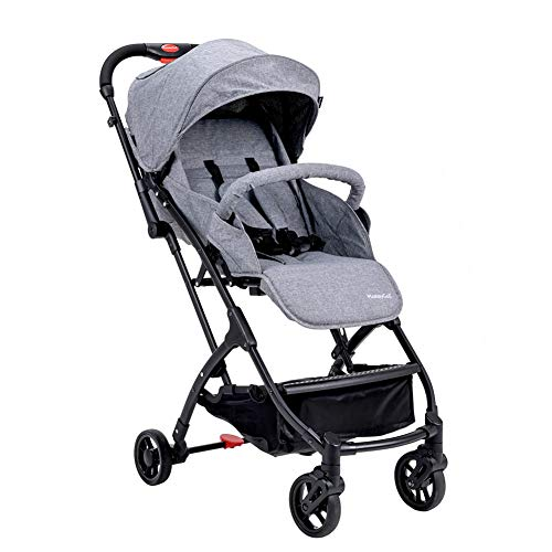 Lightweight Baby Stroller for Toddler Travel, Infant 3D Lite+ Convenience Stroller,Portable Airplane Travel Carry On Strollers,Folding Umbrella Pram (Grey)