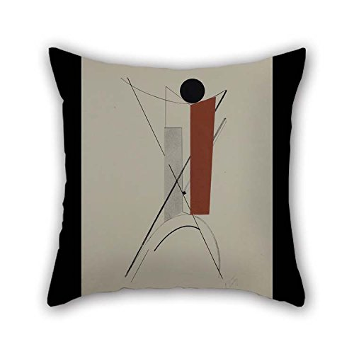 - 18 X 18 Inches / 45 By 45 Cm Oil Painting Lazar El Lissitzky - Kestnermappe Proun, Rob. Levnis And Chapman GmbH Hannover -3 Pillow Cases Twin Sides Is Fit For Adults Teens Car Indoor Coffee House