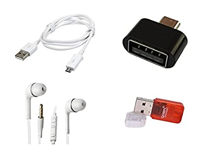 SEC USB Cable, Earphone, SD Card Reader  amp; OTG Adapter for Android Phones  Multi color  OTG Adapters
