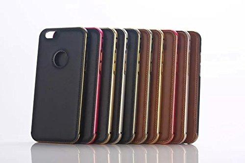 iPhone 6 Plus 5.5 pulgada Funda Case LifeePro Stylish 2 in 1 Patrón de teléfono híbrido Caballo Loco [Anti-rasguños] [Antideslizante] Resistente a los golpes PU Cuero café Contraportada + Caja de para Negro
