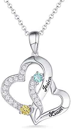 ZWSLY Personalized Necklace Custom Letter Necklace 925 Sterling Silver Handcuffs Pendant Necklace