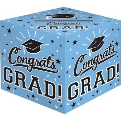 Powder Blue Congrats Grad Card Holder Box