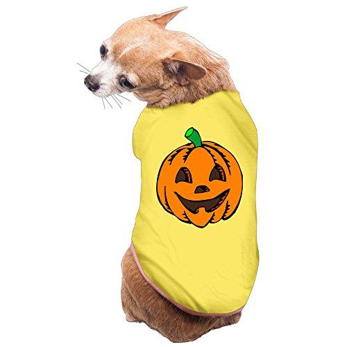 Halloween Pumpkin Puppy Clothes Soft Cotton ()