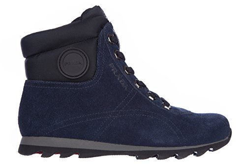 Prada boys shoes child boots suede leather blu US size 12 - Kids Shoes Prada