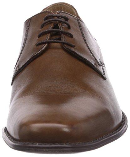 Dockers by Gerli 36OJ002 - zapatos con cordones de cuero hombre marrón - Braun (cognac 470)