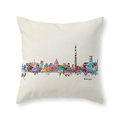 Society6 Washington Dc Skyline Throw Pillow
