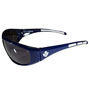NHL Toronto Maple Leafs Wrap Sunglasses, Navy Blue, Adult